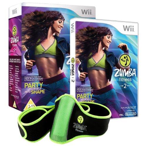 Zumba Fitness 2 (Nintendo Wii, 2011) Komplettes Spiel und Zumba Fitness-Gürtel