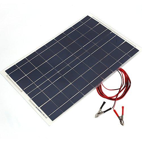 Sedeta 18V 30W intelligentes tragbares polykristallines Sonnenenergie-Panel-Ladegerät mit Krokodilklemme Auto RV Boot - Solar-power-auto-batterie-ladegerät