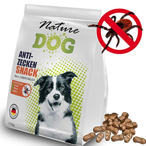 Bionic Nature Zecken Schutz Snack für Hunde 250g, Zeckenfrei in 10 Tagen durch Anti Zecken Snack, Alternative zu Zeckenzange, Zeckenkarte, Zeckenschlinge, auch für Welpen und kleine Sensible Hunde -