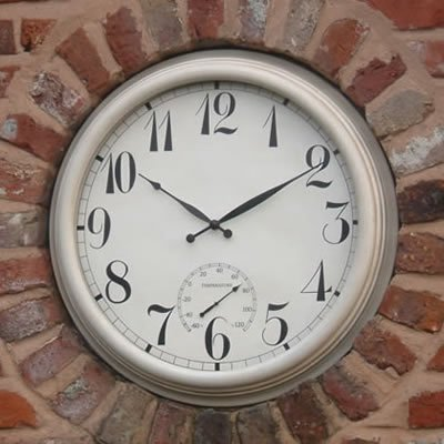 'The Giant' White Outdoor Garden Clock - 59cm (23.2