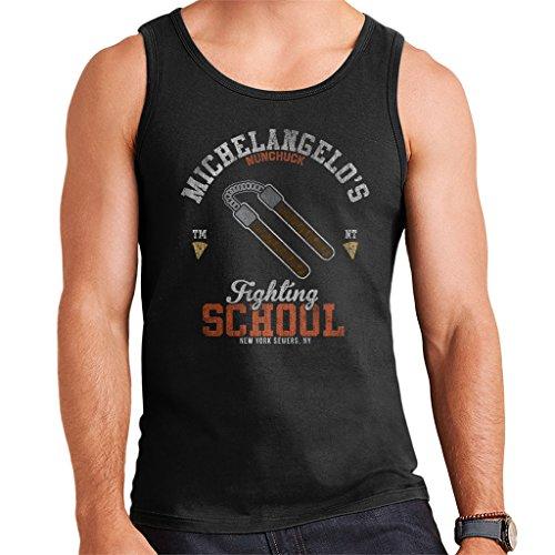 Cloud City 7 Michelangelo NUNCHUCK School Teenage Mutant Ninja Turtles Men's Vest