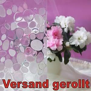 Fensterfolie 150x45cm kiesel sichtschutzfolie statische for Pool dekorfolie