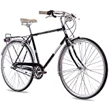 28' Zoll NOSTALGIE CITYRAD CITY BIKE HERRENRAD CHRISSON VINTAGE CITY GENT N3 mit 3 Gang SHIMANO NEXUS schwarz 2017