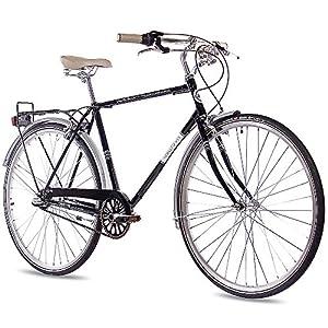 51o3sak%2BZsL. SS300 '28pollici nostalgia City Ruota City Bike Bicicletta da uomo chrisson Vintage City Gent N3con 3marce shimano Nexus Nero 2017