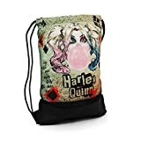 Karactermania Harley Quinn Mad Love-Storm Drawstring Bag Sac à Cordon, 47 cm, Beige