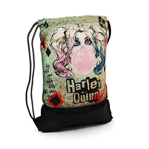 Karactermania Harley Quinn Mad Love Bolsa de Cuerdas para el Gimnasio, 47 cm, Beige