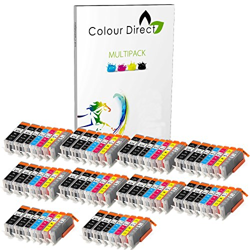 10 Sets + 10 Extra Black - Inc Grey (70 Ink ) Colour Direct Compatible Cartridges PGI 570XL CLI 571 XL- Replacement For Canon Pixma MG5750 MG5751 MG5752 MG5753 MG6850 MG6851 MG6852 MG6853 MG7750 MG7751 MG7752 MG7753 TS5050 TS5051 TS5053 TS5055 TS6050 TS6051 TS6052 TS8050 TS8051 TS8052 TS8053 TS9050 TS9055 Printers