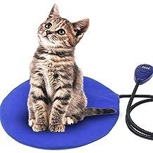 FOCHEA Manta Eléctrica para Perro y Gato 12W Cojín de Calefacción para Mascotas con 7 Temperaturas