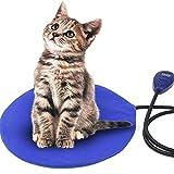 FOCHEA Heizmatte für Haustiere, Heizdecke für Haustiere Wärmematte Katzen Hunde Heizkissen mit 7 einstellbaren Temperaturen für Indoor Bett Auto