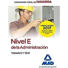 Nivel E de la Administración de la Comunidad Foral de Navarra. Temario y test