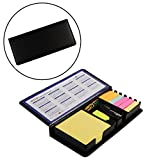 #6: BJE Note Pad, NotePad, Diary Style Sticky Notes Memo Pad Holder with Calendar + Stapler + 2 Marker Pens + U-Clips, All in One, Multi Purpose, Premium Quality