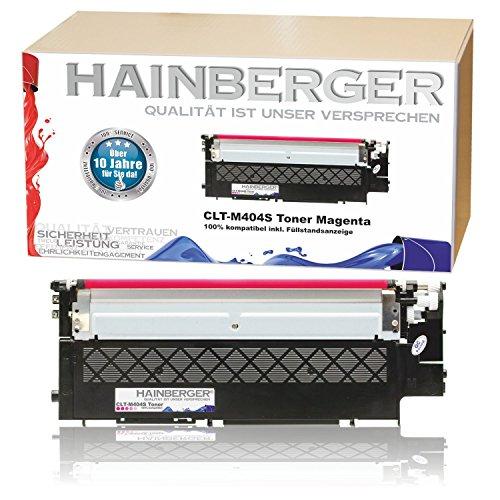 Hainberger XL Toner Magenta kompatibel zu Samsung CLT-404S Xpress C 430 W C 480 W C 480 FN C 480 FW CLT-K404S, CLT-C404S, CLT-M404S, CLT-Y404S