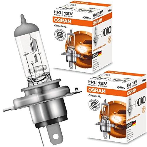 Osram 64193 H4 60/55W Bilux Lampada Alogena Per Auto Lampadina Filtro UV Nuova Originale 2 Pezz