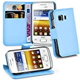 Cadorabo Funda Libro para Samsung Galaxy Young 2 en Azul Pastel – Cubierta Proteccíon con Cierre...