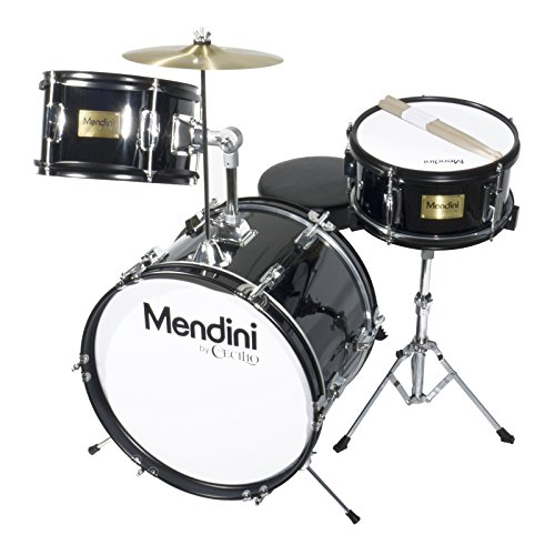mendini-mjds-3-bk-junior-drum-set-black