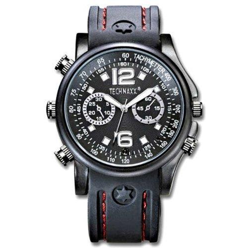 Technaxx Actionmaster Armbanduhr mit integrierter Kamera 4GB schwarz Armbanduhr Video