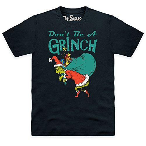 Official The Grinch Don't Be A Grinch T-Shirt, Herren Schwarz
