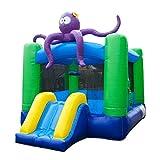 """Best Bouncy House - JumpOrange Kiddo Octopus Jump """"N"""" Slide Fun House Review"""