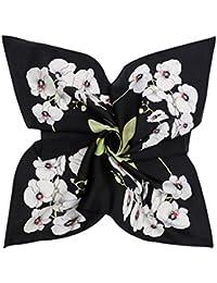 DAMILY Orchidées Imprimer Petit Foulards En Satin Carré Pour Femmes Élégant  Bandana ... d53c21f83de