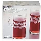 2 große Teegläser Dorado Winterzauber 'Schneeflocke',300 ml pro Glas