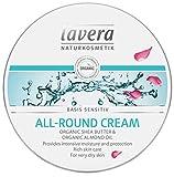 Lavera All Round Cream - Crema para pieles sensibles con manteca de karité y aceite de almendras - Protección e hidratación intensa - Para pieles muy secas - Producto vegano, cuidado de la piel orgánico, cosmética natural e innovadora, 150 ml