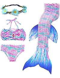 2017 ete nouvelle maillot de bain maillot de sirene 3 pieces confortables bikini set cadeau gratuit belle couronne(Pas d'ailerons)