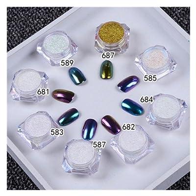 1g/box Shinning Mirror Nail Glitter Powder Gorgeous Nail Art Chrome Pigment Glitters