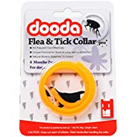 Dooda Flea and Tick Collar 4 Months Protection for Dogs (40 cm, Orange/Green)