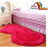 Global Homehand Loom Modern Stone 5D Shaggy Double Heart Rugs And Carpets