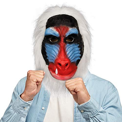 molezu malgache máscara de Babuino, Rey León Rafiki Disfraz máscara látex, Animal de la Selva chimpancé Mono Cabeza máscara de Goma Primate el Blanco.