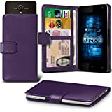 (Dark Purple) Allview P5 Energy Hülle Abdeckung Cover Case schutzhülle Tasche Verstellbarer Feder Mappe Identifikation-Kartenhalter-Kasten-Abdeckung ONX3