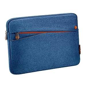 PEDEA Tablet PC Tasche für 10,1 Zoll (25,7cm) mit Zubehörfach, blau