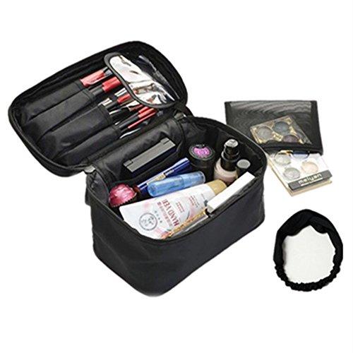 Reise Make-up Taschen - Kosmetiktasche Kleine Kosmetik-Fall-Organizer für Frauen(black)