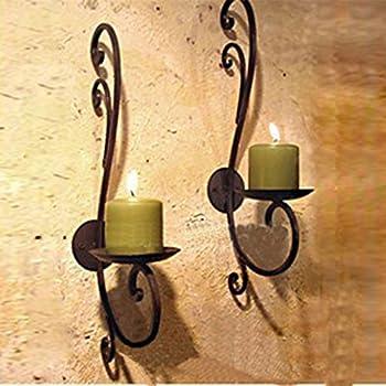kerzenhalter wand montage f r 4 stumpenkerzen wand kerzenleuchter wand kerzenst nder. Black Bedroom Furniture Sets. Home Design Ideas