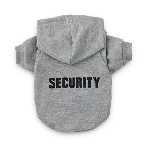 DroolingDog Hundekleidung-Haustier Sicherheit Hoodie Hunde-T-Shirt für kleine Hunde medium (5.5-8.8lb) grau