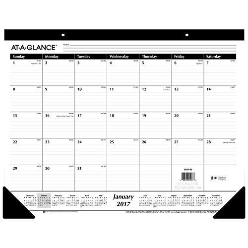 Block Kalender Daily (Einen Blick Monatliche Schreibtischunterlage Kalender, Januar 2018–Dezember 2018, 55,9x 43,2cm Standard-liniert 1 Stück weiß)