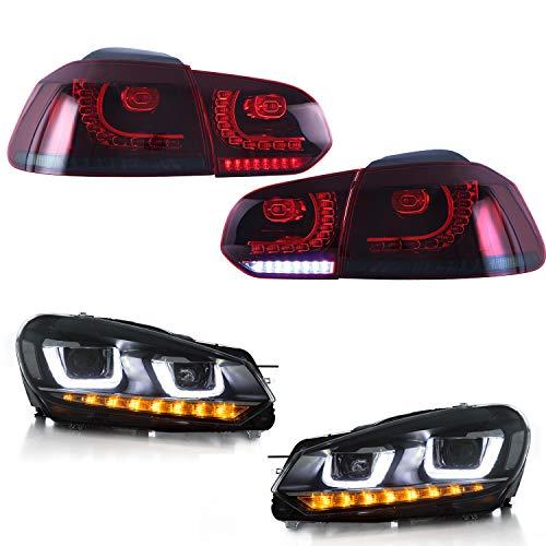 USEKA Scheinwerfer Rücklicht für Golf 6 MK6 GTI R 2008-2013 gebraucht kaufen  Wird an jeden Ort in Deutschland