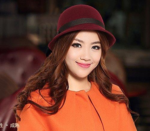Black England Small Hat Automne Féminin Été Version coréenne Lady Hat Dome Mode Casquettes ( couleur : D , taille : M ) B