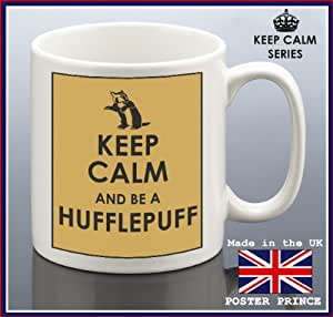 Keep calm and BE A HUFFLEPUFF Yellow - Harry Potter - ceramic mug - unique and easy gift idea - Microve and dishwasher safe