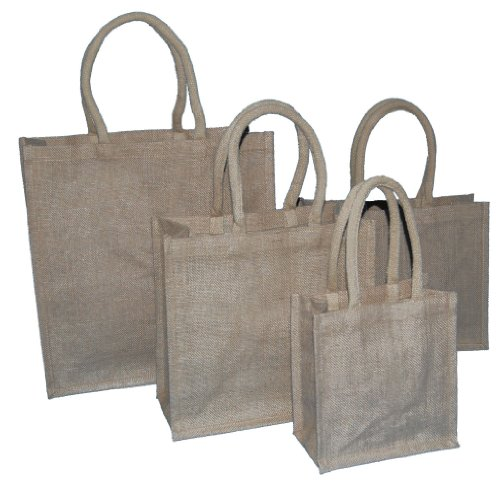 50 MEDIUM NATURAL JUTE BAGS 300x150x300mm - CHOOSE YOUR SIZE AND QUANTITY