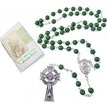 Irlandese San Patrizio verde rosari trifoglio argento celtico crocifisso