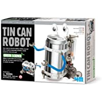Price comparsion for Build Your Own Tin Can Robot - Construct Your Own Kit - Popular Educational - Educational Science Present Gift Ideal For Christmas Xmas Stocking Fillers Age 8+ Boys Girls Children Kids