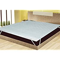 Rajasthan Crafts Waterproof and Dust Proof 36X78-inch Mattress Protector, Single Bed, White Color