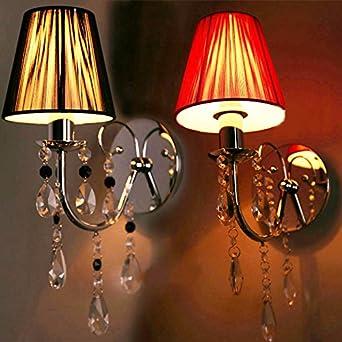 Yyhaoge Kopf Simple, Double Wall Lamp, Zeichnung, Lampenschirm Der  Nachttischlampe Dekoration Kristall, Warmen Hotel De Luxe Schlafzimmer  Lampe Dekoration ...