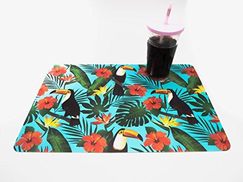 Tropical-motiv (Platzset, 4-teilig 43x 28cm-Motive Tropischer, Fleurs Tropicales, 43 x 28 cm)