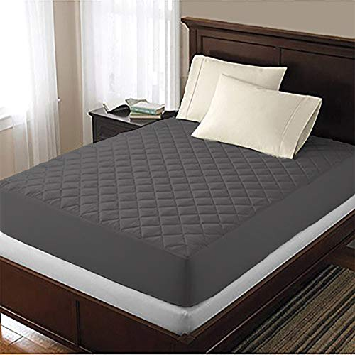 AVI Generation Quilted Design Waterproof Mattress Protector Double Bed(72x72x8) Inches - (Grey)