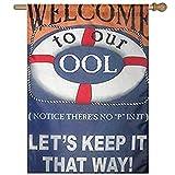 Dozili Flagge Welcome to Pool Home Dekoration Garten Flagge wetterfest & doppelseitig Hofflagge, Polyester, bunt, 28