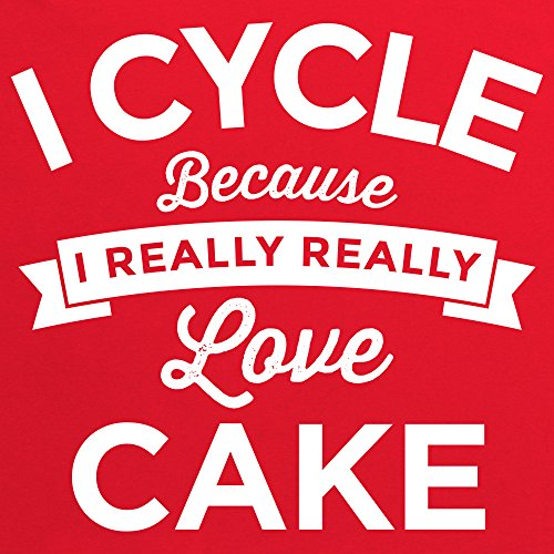 Cycle Cake T-Shirt, Damen Rot