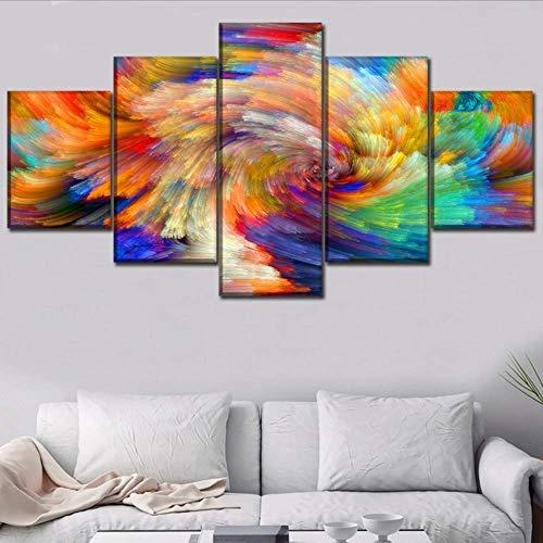 Jixiaosheng (nessuna cornice) tela pittura home decor 5 pezzi colorato astratto design artistico picture for living room wall art stampa poster decor