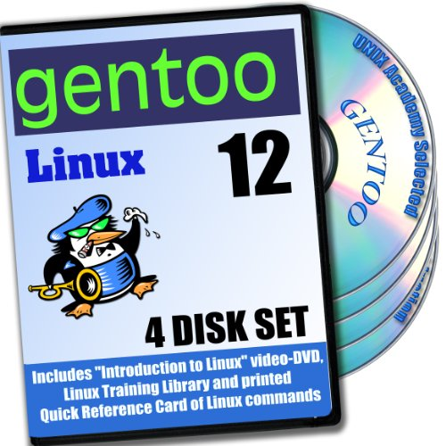 Gentoo 12 Linux 4-Disk DVD komplettes Installations- and Referenz- Set (Mac Os X-installations-disk)